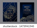 set of luxury floral wedding... | Shutterstock .eps vector #1473941540