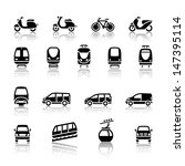 transport icons. vector... | Shutterstock .eps vector #147395114