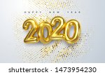happy new 2020 year. holiday... | Shutterstock .eps vector #1473954230