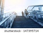 escalator in the outdoor under... | Shutterstock . vector #147395714