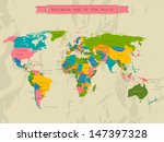editable world map with all...