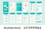 set of ui  ux  gui screens...