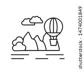 air balloon line icon. element...
