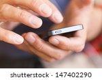 man use smartphone | Shutterstock . vector #147402290