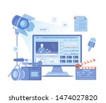 video production  recording ... | Shutterstock .eps vector #1474027820