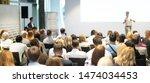 speaker giving a talk at...   Shutterstock . vector #1474034453