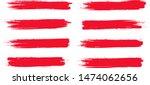 brush stroke set isolated on... | Shutterstock .eps vector #1474062656