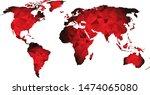 world map triangle geometric...   Shutterstock .eps vector #1474065080