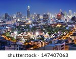 bangkok   city  rooftop view ... | Shutterstock . vector #147407063