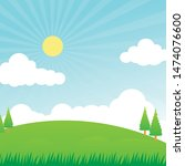 nature landscape vector... | Shutterstock .eps vector #1474076600