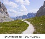 Hikin Trail In Dolomites  Val...
