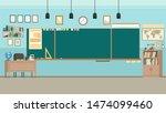 school classroom with... | Shutterstock .eps vector #1474099460