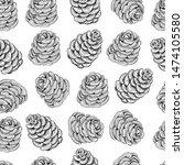 bump seamless pattern. vector... | Shutterstock .eps vector #1474105580