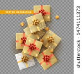 gift box with surprise isolated ... | Shutterstock .eps vector #1474111373