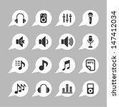 audio icons | Shutterstock .eps vector #147412034