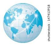network communication world | Shutterstock .eps vector #147413918