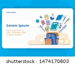 back to school concept with... | Shutterstock .eps vector #1474170803