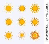 vector color sun icon sign...   Shutterstock .eps vector #1474186856