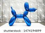 Shiny Blue Dog Balloon Animal...