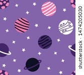universe with planets seamless... | Shutterstock .eps vector #1474205030