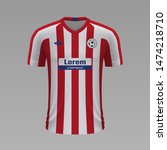 realistic soccer shirt atletico ... | Shutterstock .eps vector #1474218710
