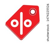 discount red tag icon. flat... | Shutterstock .eps vector #1474225526