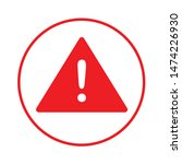 warning attention icon. flat... | Shutterstock .eps vector #1474226930