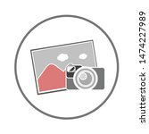 photo camera icon. flat... | Shutterstock .eps vector #1474227989
