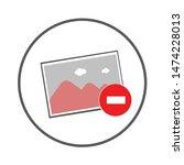 photo remove icon. flat... | Shutterstock .eps vector #1474228013