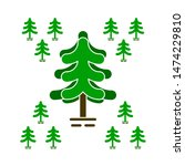 pine tree icons. flat... | Shutterstock .eps vector #1474229810