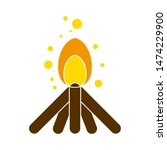 campfire icon. flat... | Shutterstock .eps vector #1474229900
