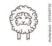 sheep icon in linear style.... | Shutterstock . vector #1474245710