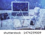 forex market chart hologram and ... | Shutterstock . vector #1474259009