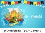 oktoberfest party illustration... | Shutterstock .eps vector #1474259843