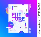 future party template or flyer... | Shutterstock .eps vector #1474274006