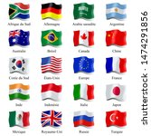 flags of g20 countries... | Shutterstock . vector #1474291856