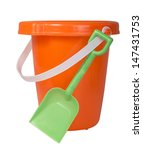 Orange Bucket With White Handle ...