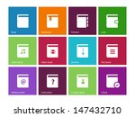 book icons on color background. ...