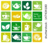 Vector Collection  Tea Icons