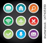 vector round plastic icons...