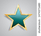 golden turquoise star with...   Shutterstock .eps vector #1474371680