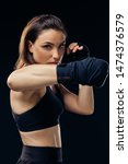 Athletic Woman In Boxing...