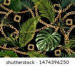 seamless tropical summer... | Shutterstock .eps vector #1474396250