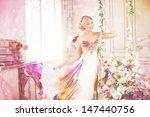 luxury woman in fashionable... | Shutterstock . vector #147440756