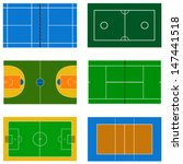 set of vector sport court | Shutterstock .eps vector #147441518