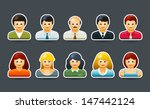 vector people portrait symbol... | Shutterstock .eps vector #147442124