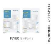 brochure design  cover modern... | Shutterstock .eps vector #1474434953