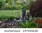 a serene backyard retreat with... | Shutterstock . vector #147444638