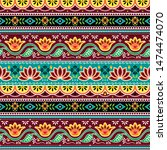 pakistani or indian truck art...   Shutterstock .eps vector #1474474070