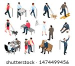 blind people checking eyesight... | Shutterstock .eps vector #1474499456
